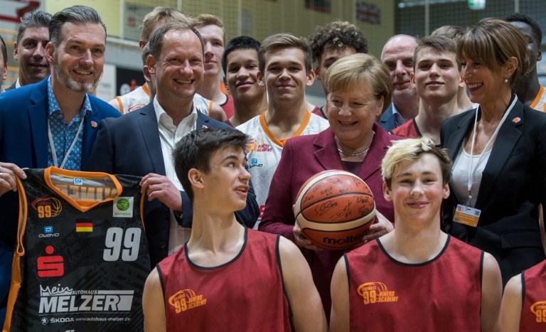 Chancellor Merkel visits Chemnitz